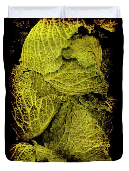 Duvet Cover featuring the photograph Renaissance Chinese Cabbage by Jennifer Wright
