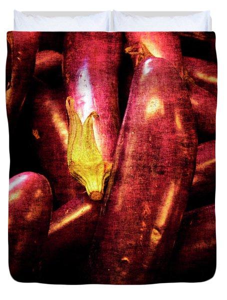 Renaissance Chinese Eggplant Duvet Cover