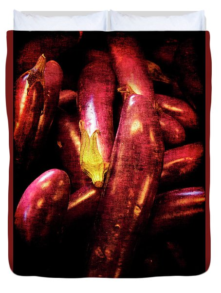 Duvet Cover featuring the photograph Renaissance Chinese Eggplant by Jennifer Wright