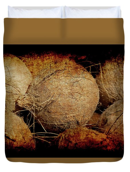 Duvet Cover featuring the photograph Renaissance Coconut by Jennifer Wright