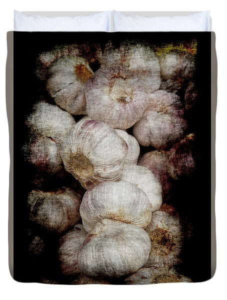 Duvet Cover featuring the photograph Renaissance Garlic by Jennifer Wright