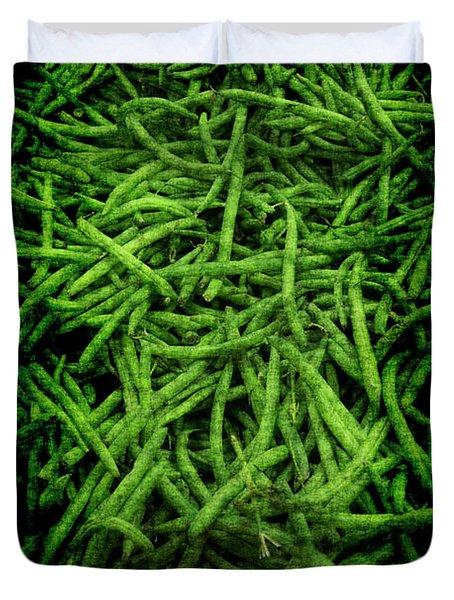 Renaissance Green Beans Duvet Cover