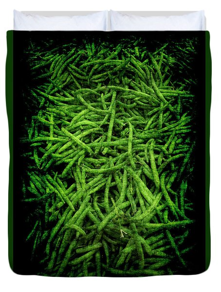Duvet Cover featuring the photograph Renaissance Green Beans by Jennifer Wright