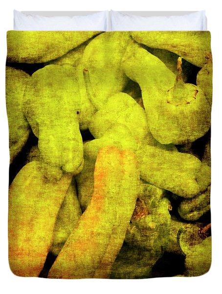 Renaissance Green Peppers Duvet Cover