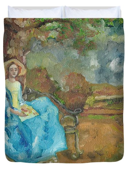 Duvet Cover featuring the painting Renaissance by Janelle Dey