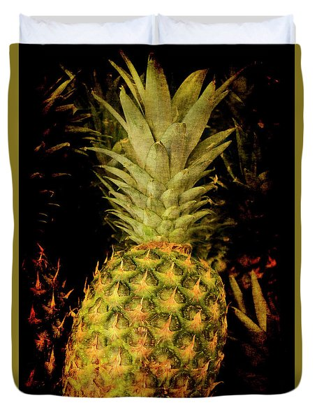 Duvet Cover featuring the photograph Renaissance Pineapple by Jennifer Wright