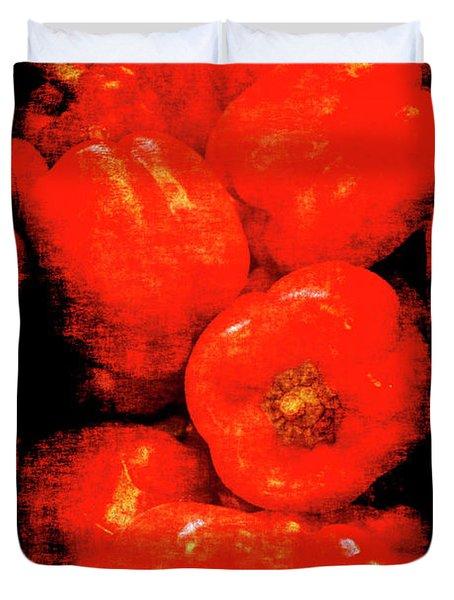 Renaissance Red Peppers Duvet Cover