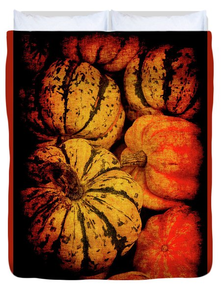 Duvet Cover featuring the photograph Renaissance Squash by Jennifer Wright