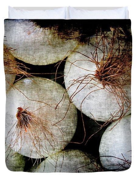 Renaissance White Onions Duvet Cover