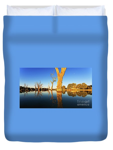 Duvet Cover featuring the photograph Renamrk Murray River South Australia by Bill Robinson