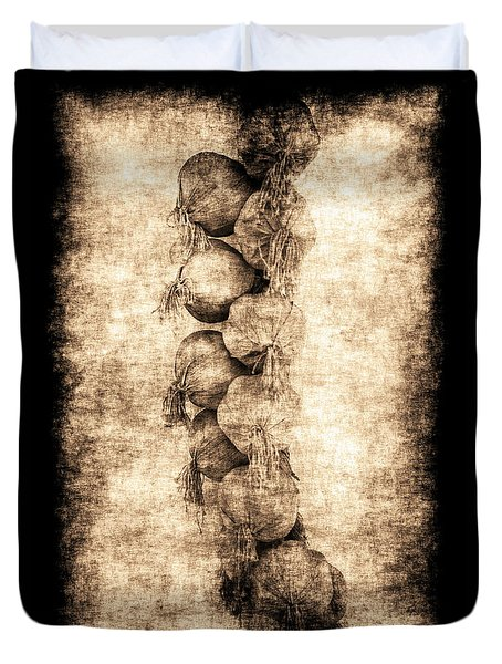 Duvet Cover featuring the photograph Renasiaance Garlic by Jennifer Wright