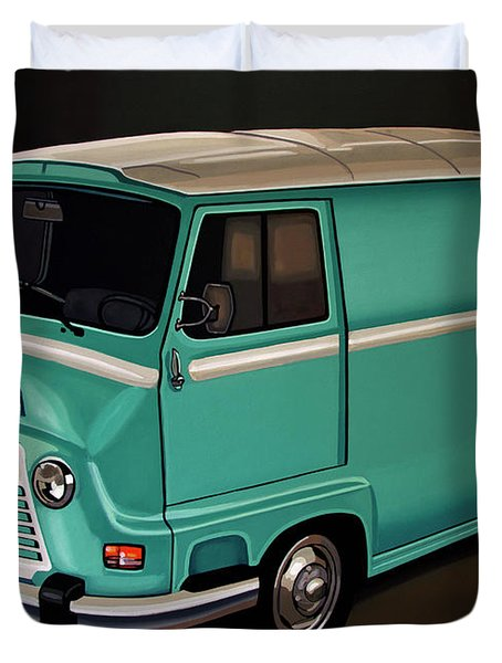Renault Estafette 1959 Painting Duvet Cover