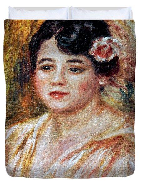 Renoir: Adele Besson, 1918 Duvet Cover