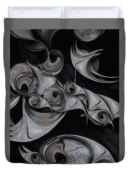 Duvet Cover featuring the digital art Repressed Reality by Carmen Fine Art