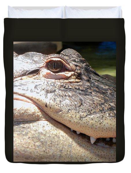 Reptilian Smile Duvet Cover by KD Johnson