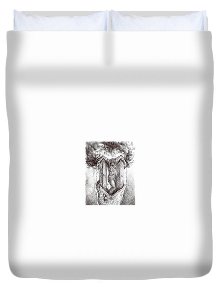 reptilluminatidomination II Duvet Cover by Darwin Leon