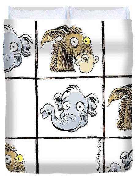 Republicans Win Tic Tac Toe Duvet Cover