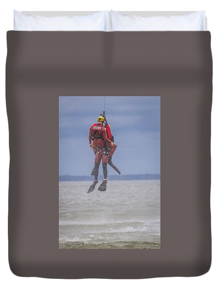 Rescue At Sea Duvet Cover