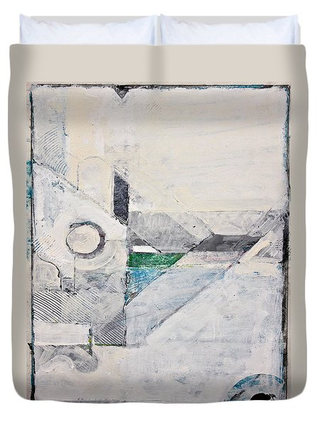 Duvet Cover featuring the painting Reservoir  by Cliff Spohn