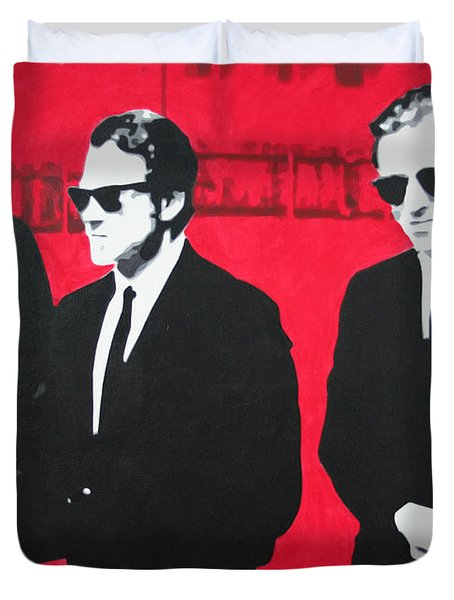 Reservoir Dogs 2013 Duvet Cover by Luis Ludzska