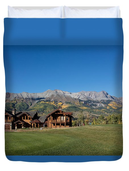 Duvet Cover featuring the photograph Residences In Mountain Village -- A Planned Community Adjacent To Telluride by Carol M Highsmith