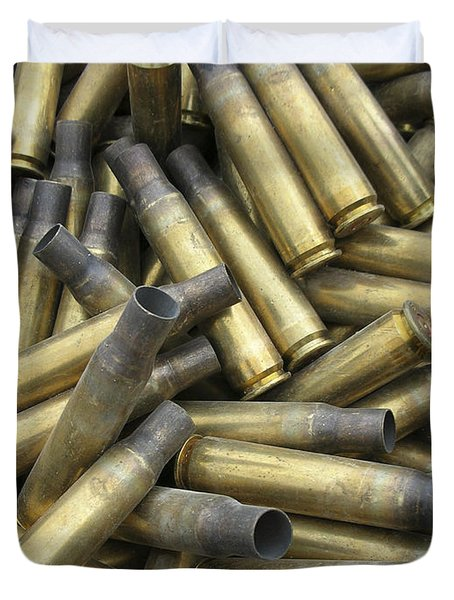Residual Ammunition Casing Materials Duvet Cover by Stocktrek Images