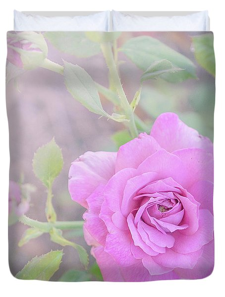 Duvet Cover featuring the photograph Resilient Rose by Cindy Garber Iverson