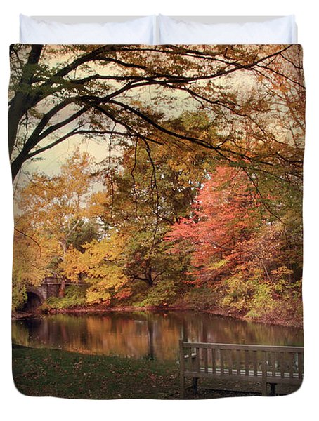 Duvet Cover featuring the photograph Respite River by Jessica Jenney