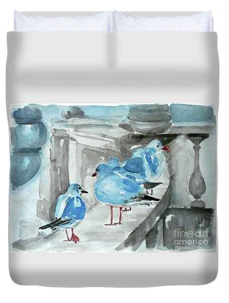 Rest By The Sea Duvet Cover by Jasna Dragun