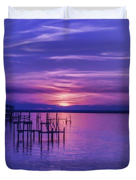 Rest Well World Purple Sunset Duvet Cover
