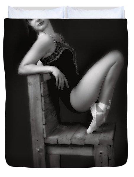 Resting  ... Duvet Cover by Chuck Caramella