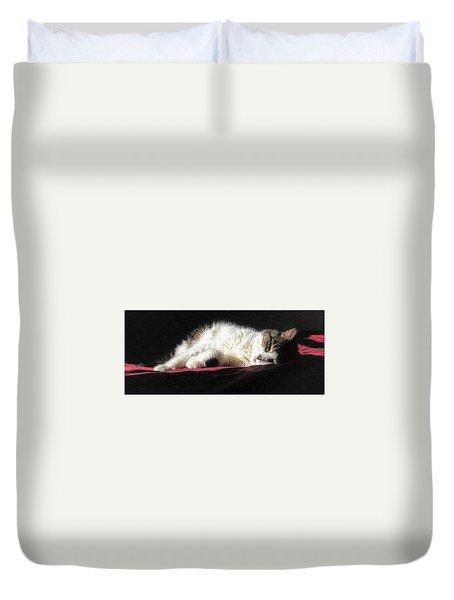 Resting Cat Duvet Cover by Maciek Froncisz