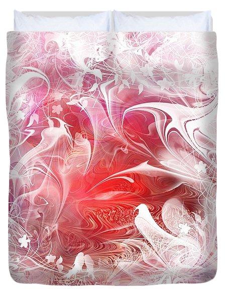 Resting Heart Duvet Cover by Rachel Christine Nowicki