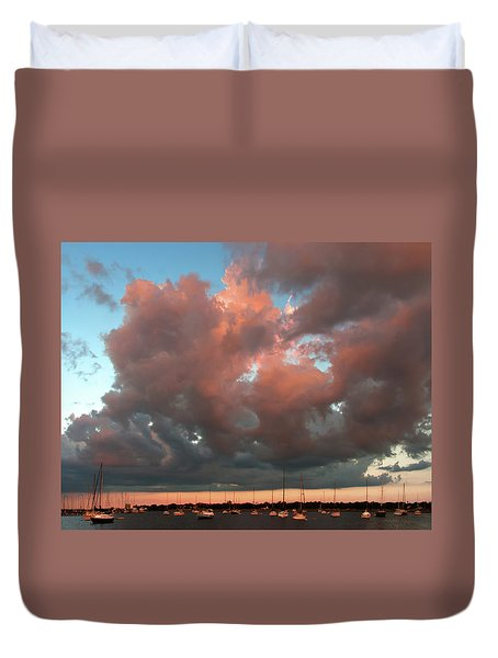 Duvet Cover featuring the photograph Resting In The Sunset by Carolyn Dalessandro