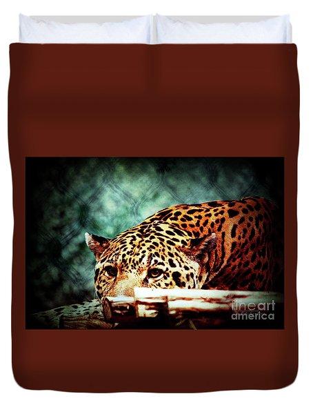 Resting Jaguar Duvet Cover