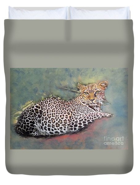 Resting Leopard Duvet Cover