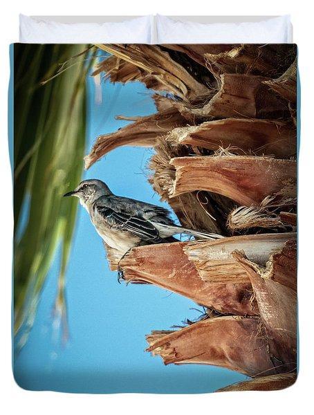 Resting Mockingbird Duvet Cover