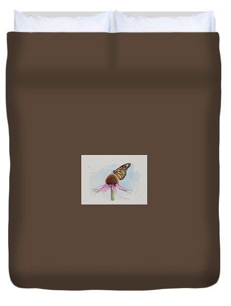 Resting Monarch Duvet Cover