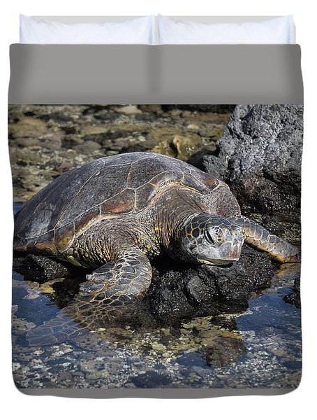 Duvet Cover featuring the photograph Resting My Head by Pamela Walton