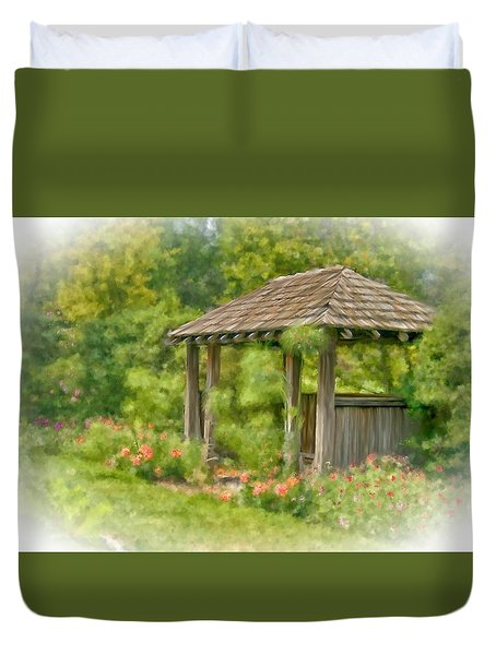 Duvet Cover featuring the photograph Resting Place by Mary Timman