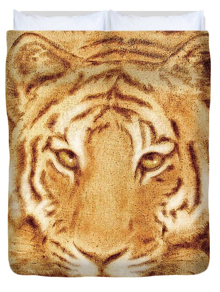 Resting Tiger Duvet Cover