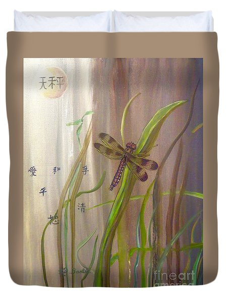 Restoration Of The Balance In Nature Cropped Duvet Cover