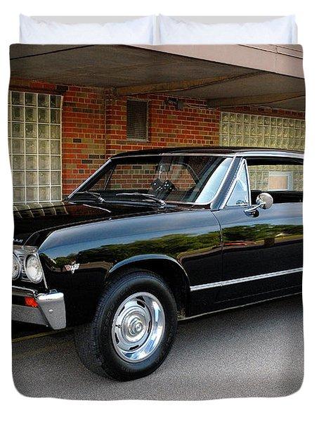 Restored Chevy Duvet Cover