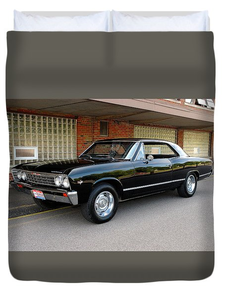 Restored Chevy Duvet Cover