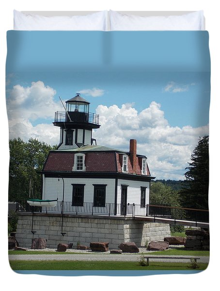 Restored Lighthouse Duvet Cover