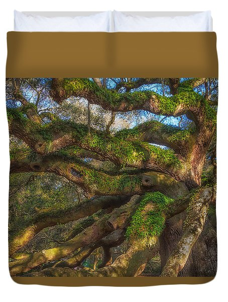Resurrection Fern Dons Angel Oak Duvet Cover