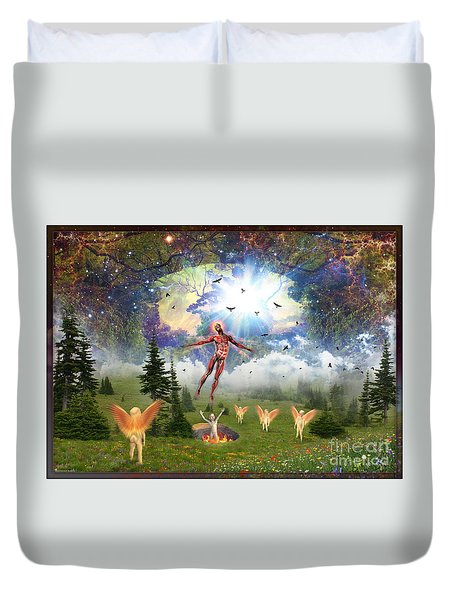 Resurrection Of Hieronymus Bosch Duvet Cover