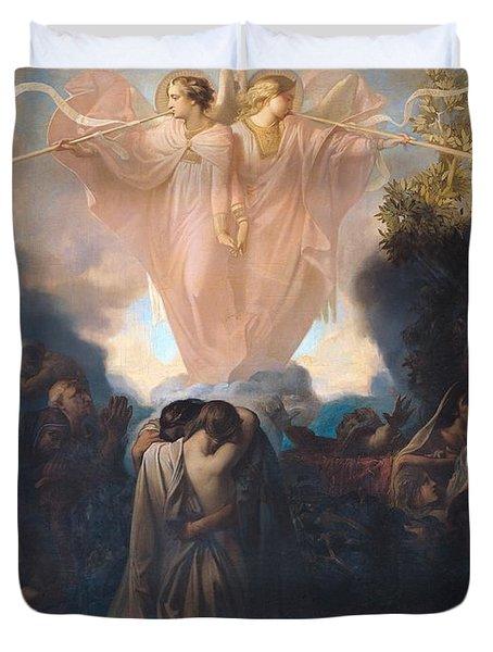 Resurrection Of The Dead Duvet Cover by Victor Mottez