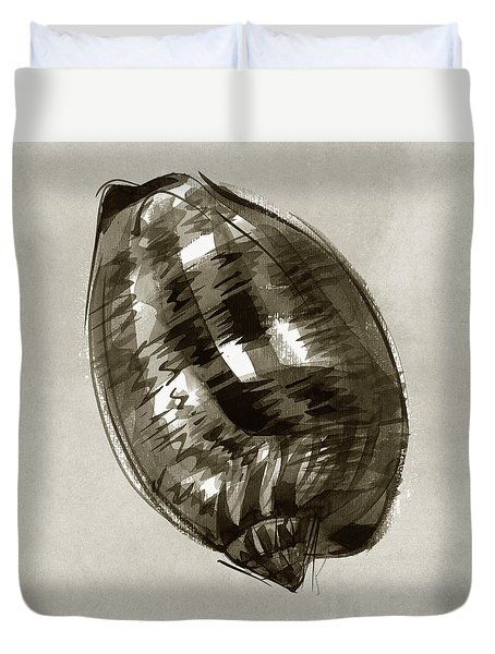 Duvet Cover featuring the painting Reticulated Cowrie by Judith Kunzle