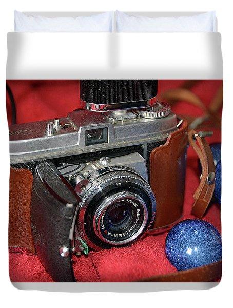 Duvet Cover featuring the photograph Retina by John Schneider